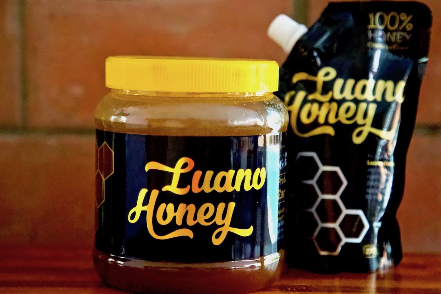 Luano Honey Jar and Pouch
